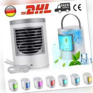 4 in 1 Mini Mobile Klimaanlage 7 LED Farben Klimagerät Ventilator Air Cooler