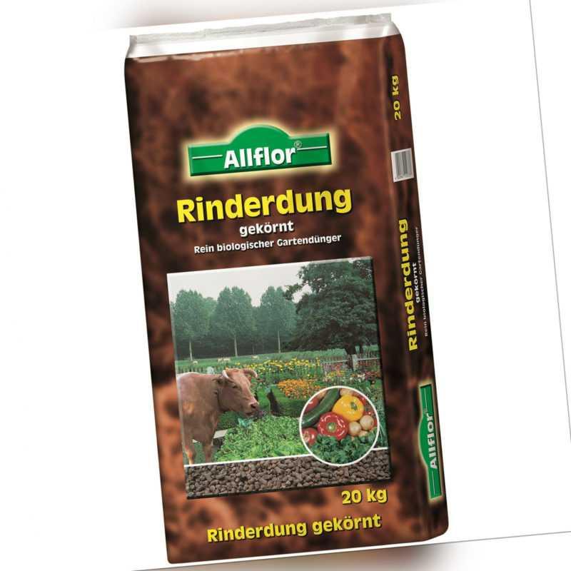 Allflor Rinderdung Kuhmist organischer Gartendünger Universaldünger Dünger 20 kg