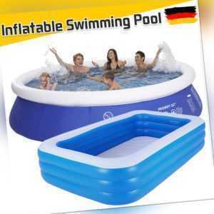 Aufblasbar Schwimmbecken Planschbecken Familien Pool Kinderpool oder Inflator