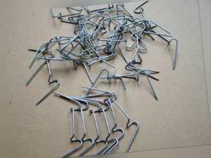 100 Gewächshausklammern für  Schindelverglasung und Hohlkammerplatten