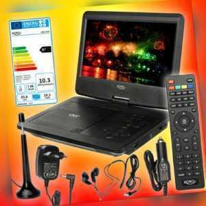 Xoro HSD 1015 tragbarer DVB-T2 HD Fernseher mit DVD-Player 12V/230V TV EEK A+