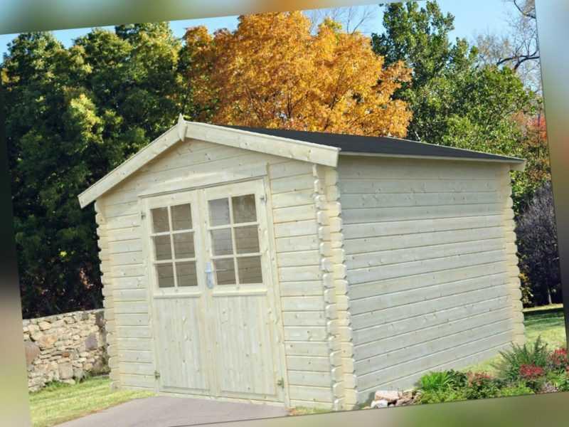 28 mm Gartenhaus Mannheim 300x300 cm Gerätehaus Holz Holzhaus Schuppen Blockhaus