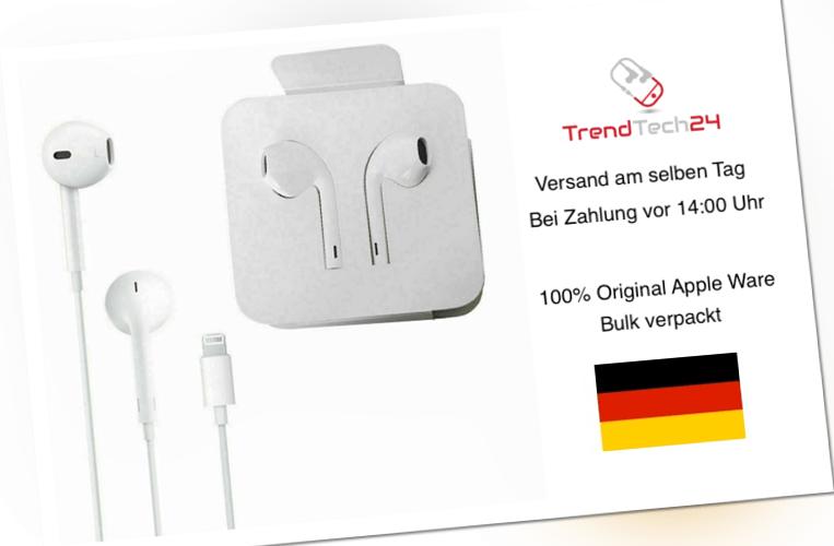 ORIGINAL Apple Iphone Headset Kopfhörer Lightning 7 8 X XS 11 12 MMTN2ZM/A A1748