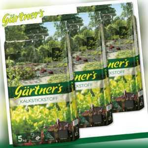 Gärtner's 3 x 5 kg Kalkstickstoff fein geperlt Mineralien Wachstum Pflege Garten