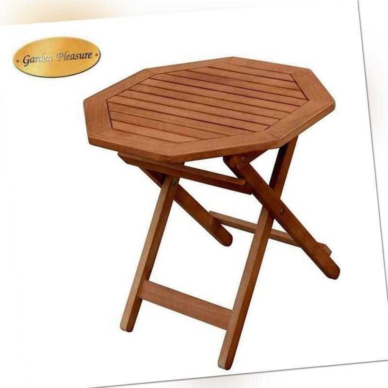 Holz Garten Tisch Teak-Look Eukalyptus Bistrotisch Klapptisch Gartenmöbel 50x50
