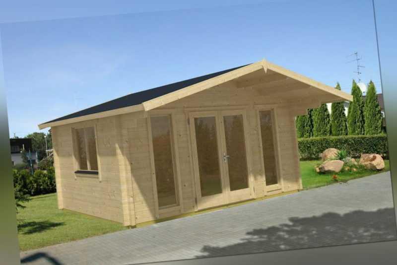 Gartenhaus BAMBERG 1, 470x380 cm, 70 mm Blockbohlen, inkl. Boden