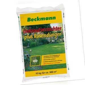 Beckmann Unkrautvernichter plus Rasendünger mit UV Dünger Volldünger NPK 10kg