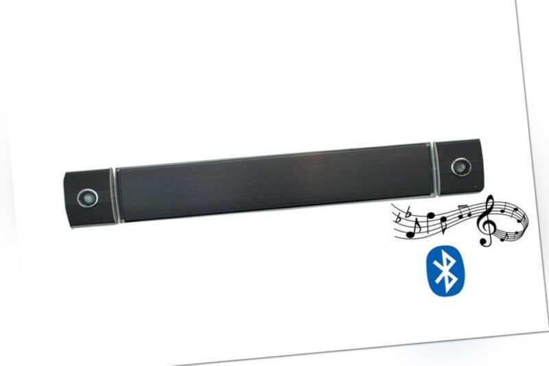 Bluetooth Dunkelstrahler 2400 W. Heizstrahler Wandheizstrahler Terrassenstrahler