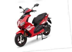 Heat Red 49cc Sport Motorroller Roller Moped
