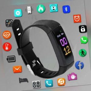 Bluetooth Smart Sport watch Fitness Tracker Uhr Puls Armband Wasserdicht NUE