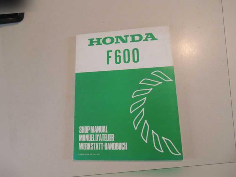 Ausgabe 1977 Werkstatthandbuch Repair manual Honda Tiller Boden fräse F600