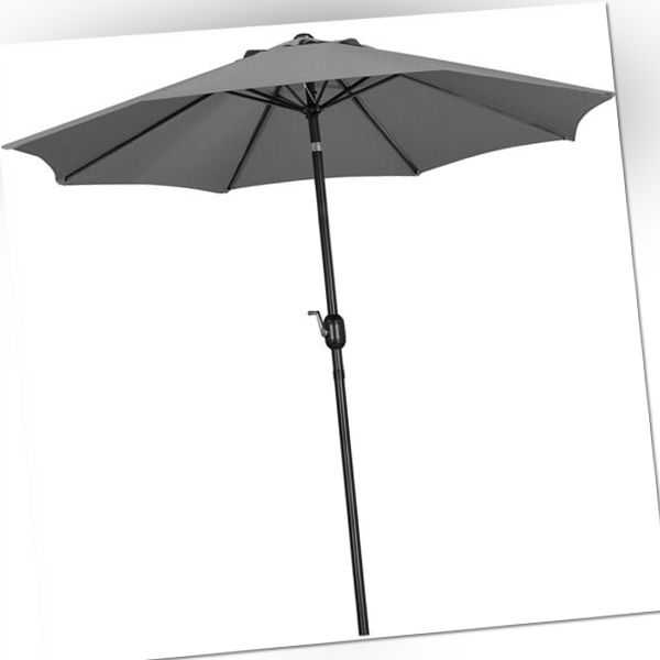 Sonnenschirm ø 261 cm Gartenschirm Knickbarer Marktschirm UV Schutz Kurbelschirm