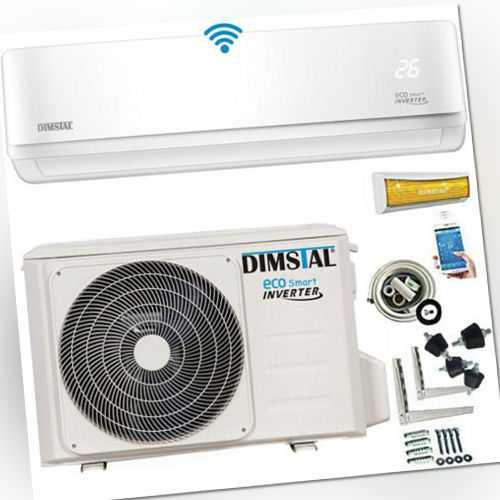 Klimaanlage A++ ECO Smart Inverter WiFi 12000btu/3,5 kW + 5m Kupferleitung&Kabel