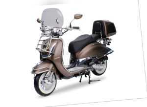 EasyCruiser braun / matt 49ccm Retro Motorroller Roller Moped