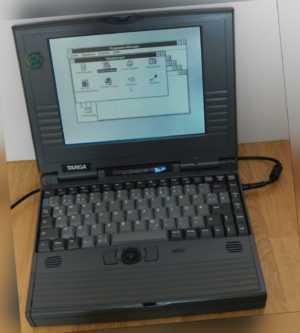 "9,5"" Laptop Notebook Targa 486 486DX2 66MHz 412MB 4MB Win 3.11 DOS 1,44MB Floppy"