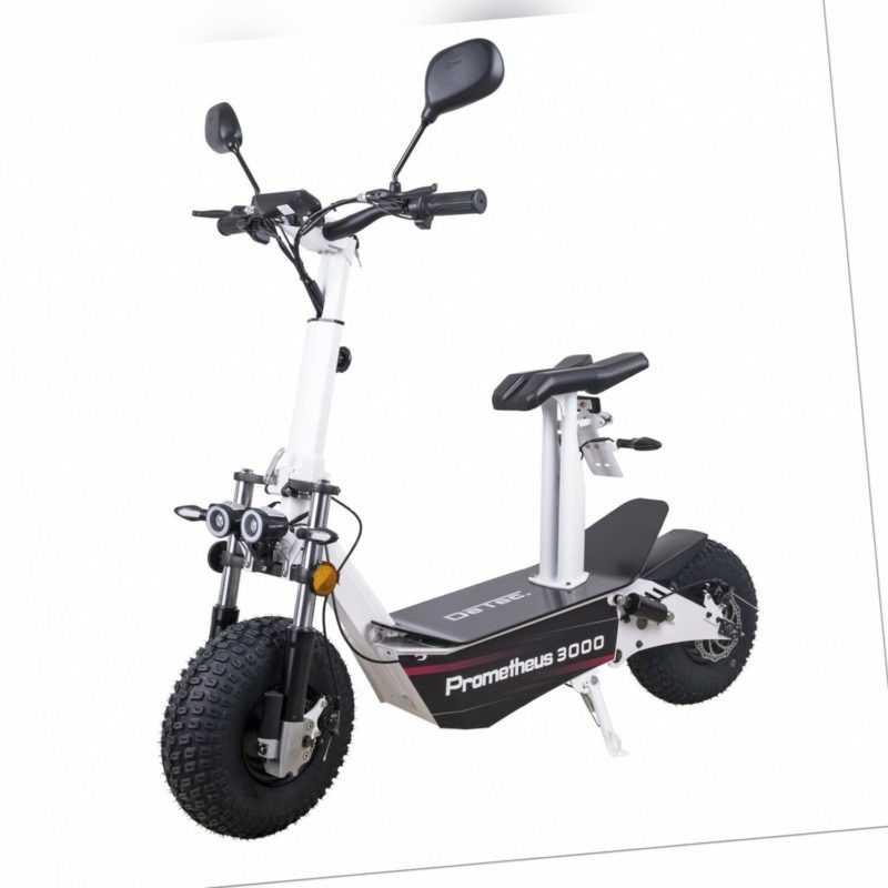 Elektroroller mit Straßenzulassung E Scooter DeTec. Prometheus E Roller 45 km/h