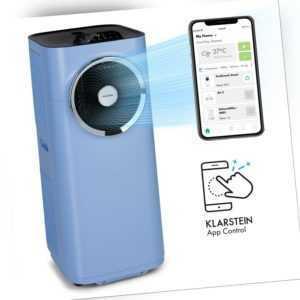 Klimaanlage mobil Gerät Ventilator 3-in-1 12000 BTU 3,2kW App-Steuerung blau