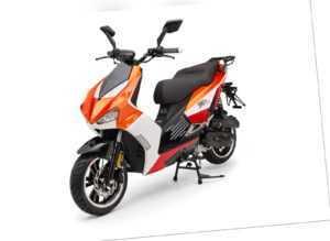 BAD S Orange 49cc Sport Motorroller Roller Moped