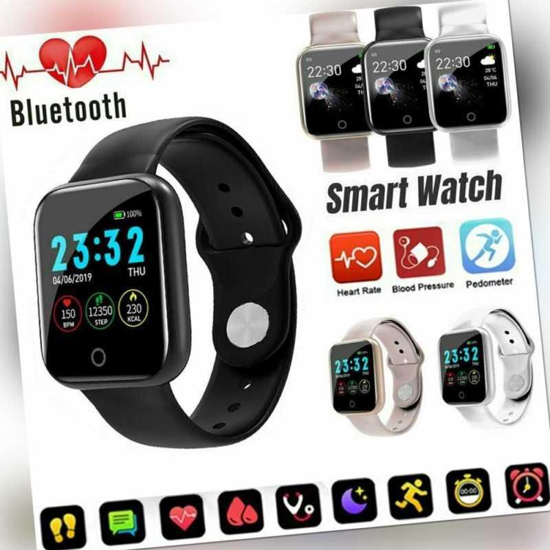 Bluetooth Smartwatch Uhr Intelligente Armbanduhr Fitness Tracker Sport  DE