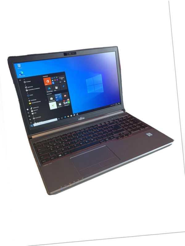 "Fujitsu Lifebook E754 15"" FHD Notebook Quad Core i7-4712MQ 256GB SSD 8GB W10Pro"