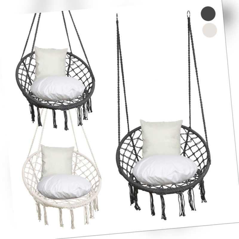 Hängesessel Hängestuhl Garten 125x80cm 150kg Hängeschaukel Ring aus Eisen