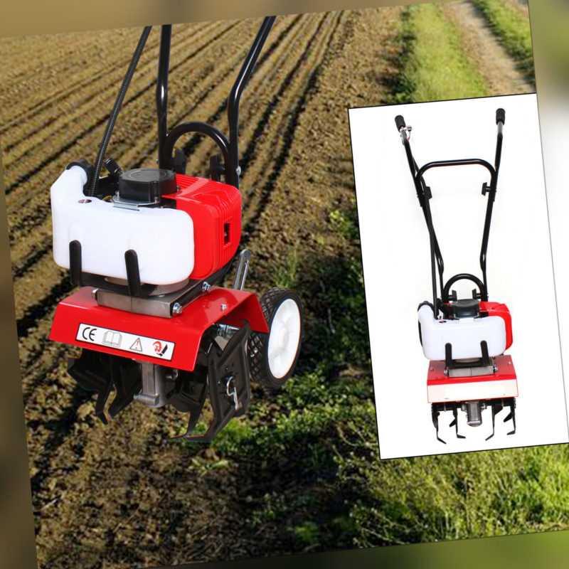 Benzin Gartenhacke 52cc Motorhacke Bodenfräse Kultivator Fräse Hacke 1,9KW
