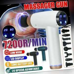 8 Köpfe LCD Electric Massage Gun Massagepistole Massager Muscle Massagegerät Pro
