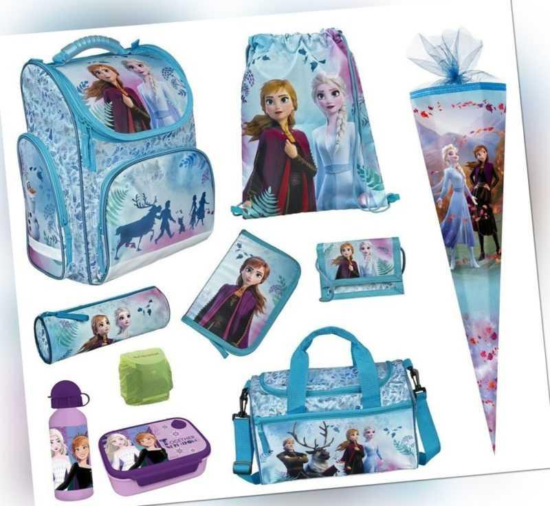 Disney Eiskönigin Mädchen Schulranzen Set 10-tlg. Sporttasche Schultüte Frozen 2