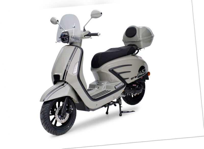 1453 GT50 Grau 49ccm Retro Motorroller Roller Moped