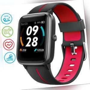 UMIDIGI Smartwatch Uwatch3 GPS, 1.3 Zoll Fitness Armbanduhr 5 ATM wasserdichte