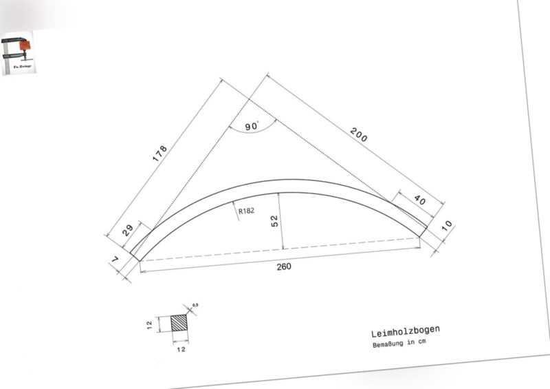 12x12 Douglasie Leimholzbogen Rundbalken Rundpfosten Rundbogen Holzbogen Carport