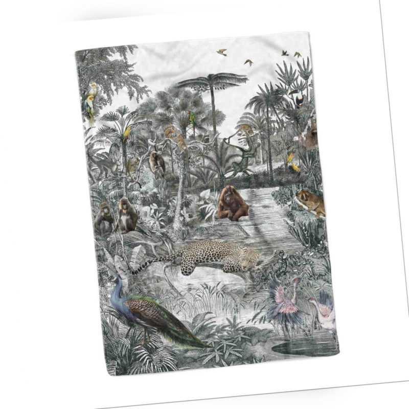 Zo Home Flausch-Decke Kuscheldecke Plaid 140x200 Nico Dschungel