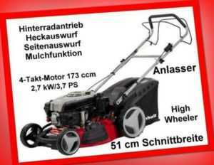 Benzin-Rasenmäher Einhell GC-PM 51/2 S HW-E Rasenmäher 51 cm Mulchmäher B-Ware