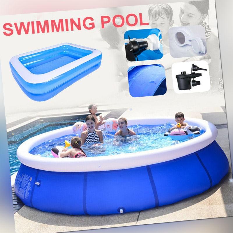 Swimming Pool Schwimmbecken Kid Planschbecken Schwimmbad aufblasbar Familienpool