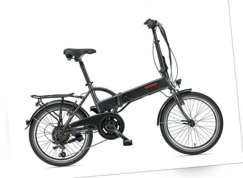 Telefunken E-Bike 20 Zoll Faltrad Pedelec Fahrrad 6 Gang Shimano Kompakt F820