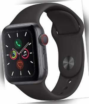 Apple Watch Series 5 GPS Cellular 40mm Aluminiumgehäuse spacegrau Sportband EKG