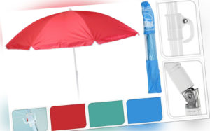 Sonnenschirm Ø 138 cm Strandschirm Schirm mit 3 Haken Strand Urlaub UV-Schutz