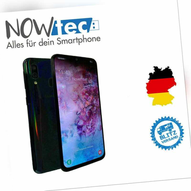 Samsung Galaxy A40 SM-A405F 64GB DUAL SIM Schwarz, guter Zustand
