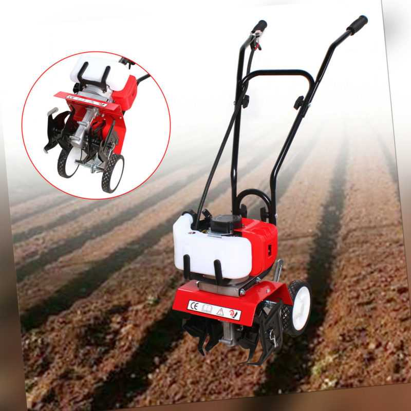 1,9KW Benzin Gartenhacke Motorhacke 52cc Ackerfräse Bodenfräse Kultivator