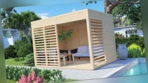 Relax Pavillon Sally Lounge Unterstand Holz