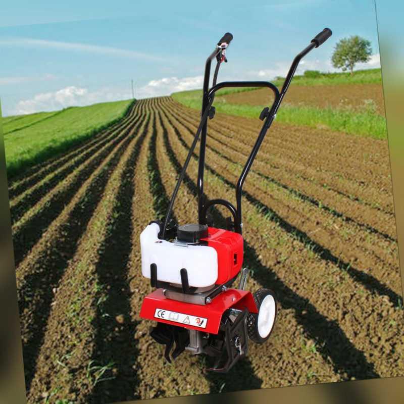 1,9KW Benzin Gartenhacke 52cc Motorhacke Bodenfräse Kultivator Fräse Hacke