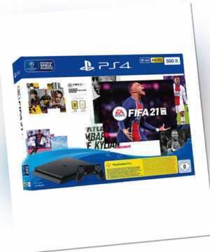Sony PlayStation 4 Slim 500GB black inkl. FIFA2021 Neu OVP | Rechnung