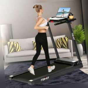 Laufband elektrisch 12 km/h LCD Display Puls Fitness 120 kg klappbar Bluetooth