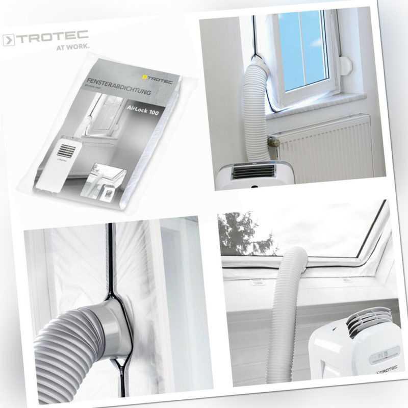 TROTEC AirLock 100 Hot Air Stop Klimagerät mobile Klimaanlage Fensterabdichtung