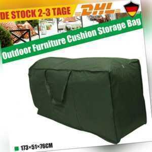 Auflagentasche Wasserdicht Gartenmöbel-Sitzkissen Aufbewahrungs Schutzhülle DHL