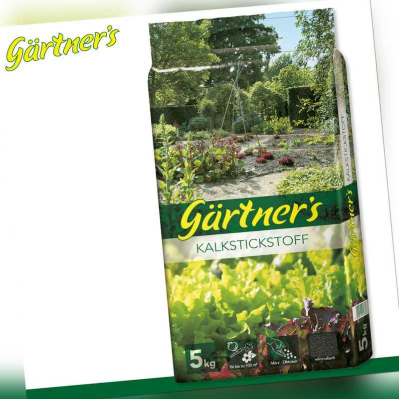 Gärtner's 5 kg Kalkstickstoff fein geperlt Mineralien Wachstum Pflege Garten Ras