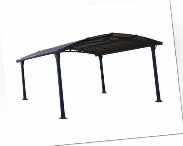 Palram - Canopia Alu Carport Arcadia 4300 grau Polycarbonat BxT 359x435cm