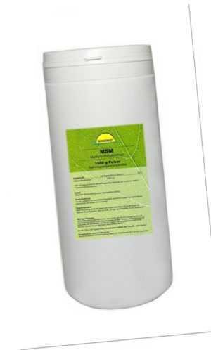 Premium MSM (Methylsulfonylmethan), 1 kg, 99,95% Reinheit, 60-80 Mesh, in Dose