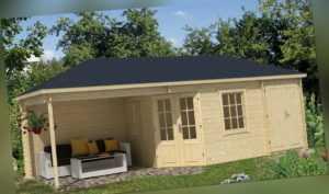 Tuindeco Gartenhaus Gerätehaus Blockhütte OLSON 705 x 300 / 45mm