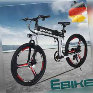 E-Bike Klapprad Pedelec 26 Zoll Elektrofahrrad Faltrad 250W Mountainbike Fahrrad